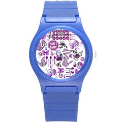 Fms Mash Up Plastic Sport Watch (small) by FunWithFibro