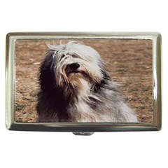 bearded collie Cigarette Money Case from ArtsNow.com Front
