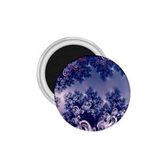 Pink And Blue Morning Frost Fractal 1 75  Button Magnet by Artist4God