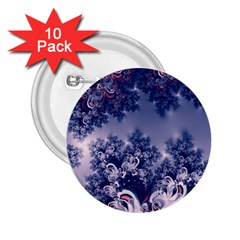 Pink And Blue Morning Frost Fractal 2 25  Button (10 Pack) by Artist4God