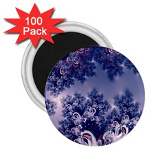 Pink And Blue Morning Frost Fractal 2 25  Button Magnet (100 Pack) by Artist4God