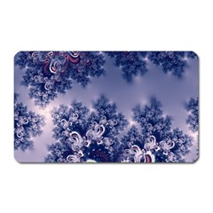 Pink and Blue Morning Frost Fractal Magnet (Rectangular) by Artist4God