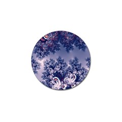 Pink And Blue Morning Frost Fractal Golf Ball Marker by Artist4God