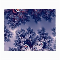 Pink And Blue Morning Frost Fractal Glasses Cloth (small) by Artist4God