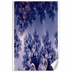 Pink And Blue Morning Frost Fractal Canvas 24  X 36  (unframed) by Artist4God