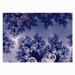 Pink And Blue Morning Frost Fractal Glasses Cloth (large, Two Sided) by Artist4God