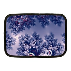 Pink And Blue Morning Frost Fractal Netbook Sleeve (medium) by Artist4God