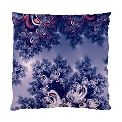 Pink And Blue Morning Frost Fractal Cushion Case (two Sided)  by Artist4God