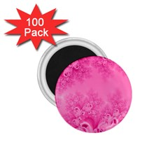 Soft Pink Frost Of Morning Fractal 1 75  Button Magnet (100 Pack) by Artist4God