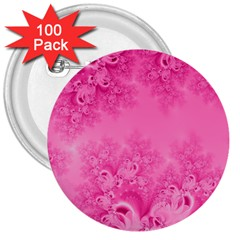 Soft Pink Frost Of Morning Fractal 3  Button (100 Pack) by Artist4God