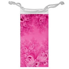 Soft Pink Frost Of Morning Fractal Jewelry Bag by Artist4God