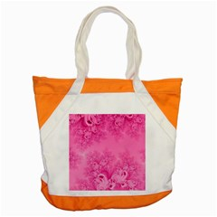 Soft Pink Frost Of Morning Fractal Accent Tote Bag by Artist4God