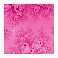 Soft Pink Frost Of Morning Fractal Glasses Cloth (medium) by Artist4God