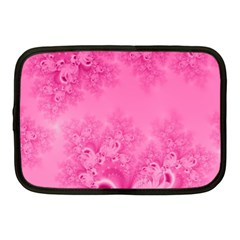 Soft Pink Frost Of Morning Fractal Netbook Sleeve (medium) by Artist4God