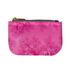 Soft Pink Frost Of Morning Fractal Coin Change Purse