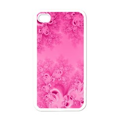 Soft Pink Frost Of Morning Fractal Apple Iphone 4 Case (white) by Artist4God