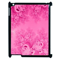 Soft Pink Frost Of Morning Fractal Apple Ipad 2 Case (black) by Artist4God