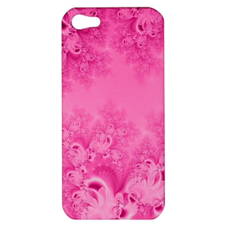 Soft Pink Frost of Morning Fractal Apple iPhone 5 Hardshell Case