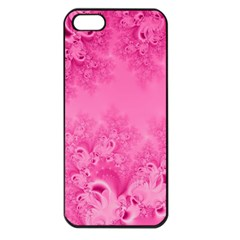 Soft Pink Frost Of Morning Fractal Apple Iphone 5 Seamless Case (black) by Artist4God