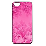 Soft Pink Frost of Morning Fractal Apple iPhone 5 Seamless Case (Black) Front
