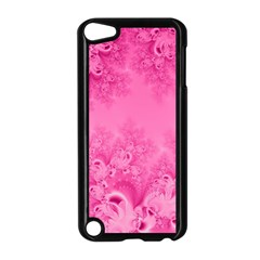 Soft Pink Frost Of Morning Fractal Apple Ipod Touch 5 Case (black) by Artist4God