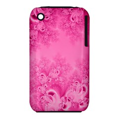 Soft Pink Frost Of Morning Fractal Apple Iphone 3g/3gs Hardshell Case (pc+silicone) by Artist4God