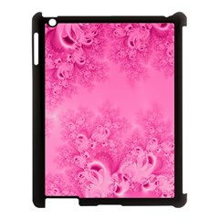 Soft Pink Frost Of Morning Fractal Apple Ipad 3/4 Case (black) by Artist4God