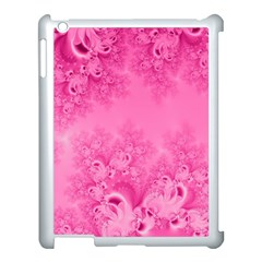 Soft Pink Frost Of Morning Fractal Apple Ipad 3/4 Case (white) by Artist4God