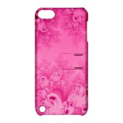Soft Pink Frost Of Morning Fractal Apple Ipod Touch 5 Hardshell Case With Stand by Artist4God