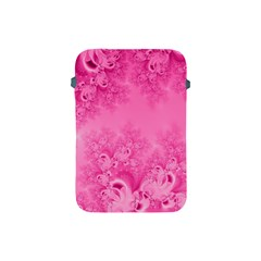 Soft Pink Frost Of Morning Fractal Apple Ipad Mini Protective Sleeve by Artist4God