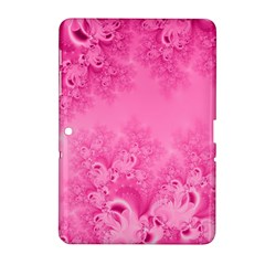 Soft Pink Frost Of Morning Fractal Samsung Galaxy Tab 2 (10 1 ) P5100 Hardshell Case  by Artist4God