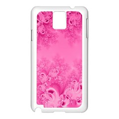 Soft Pink Frost Of Morning Fractal Samsung Galaxy Note 3 N9005 Case (white) by Artist4God