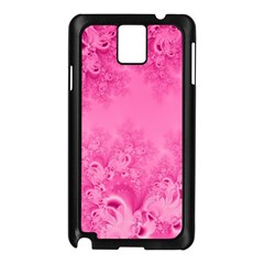Soft Pink Frost Of Morning Fractal Samsung Galaxy Note 3 N9005 Case (black) by Artist4God
