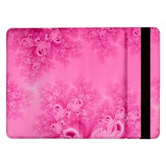 Soft Pink Frost Of Morning Fractal Samsung Galaxy Tab Pro 12 2  Flip Case by Artist4God