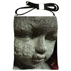 Angel Face Shoulder Sling Bag by CrackedRadish