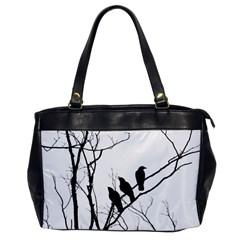 Night Birds Oversize Office Handbag (one Side) by CrackedRadish