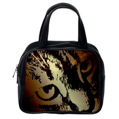Tigre Chat Classic Handbag (one Side) by CrackedRadish