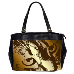 Tigre Chat Oversize Office Handbag (two Sides) by CrackedRadish
