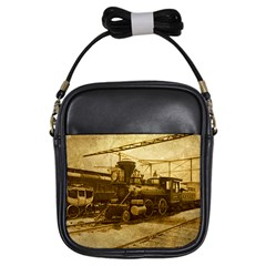 Retro Rails Girl s Sling Bag by CrackedRadish