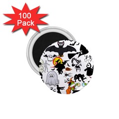 Halloween Mashup 1 75  Button Magnet (100 Pack) by StuffOrSomething