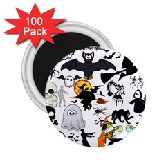 Halloween Mashup 2 25  Button Magnet (100 Pack) by StuffOrSomething
