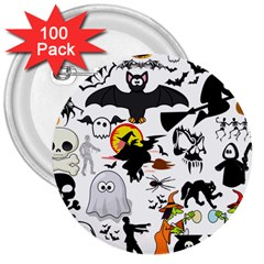 Halloween Mashup 3  Button (100 Pack) by StuffOrSomething