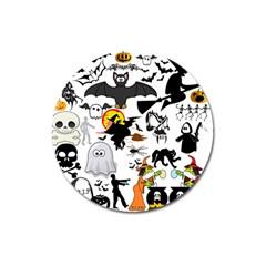 Halloween Mashup Magnet 3  (round) by StuffOrSomething
