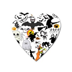 Halloween Mashup Magnet (heart) by StuffOrSomething