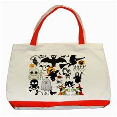 Halloween Mashup Classic Tote Bag (red) by StuffOrSomething