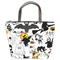 Halloween Mashup Bucket Handbag