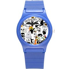 Halloween Mashup Plastic Sport Watch (small) by StuffOrSomething