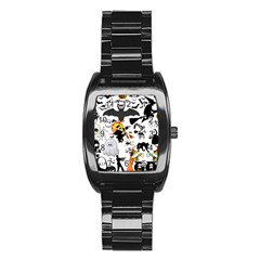Halloween Mashup Stainless Steel Barrel Watch by StuffOrSomething