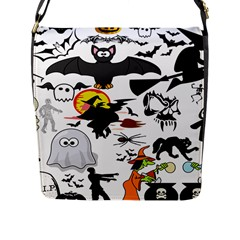 Halloween Mashup Flap Closure Messenger Bag (large) by StuffOrSomething