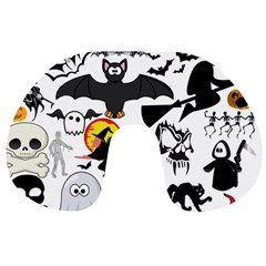 Halloween Mash Up Travel Neck Pillow by StuffOrSomething